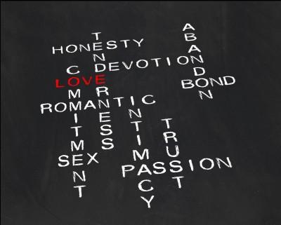 Love terms crossword