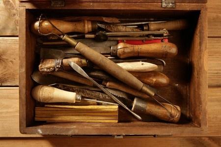 Toolbox antique closeup
