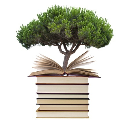 09cce5e11b4e8 Tree growing out of books - Dr James Wellborn