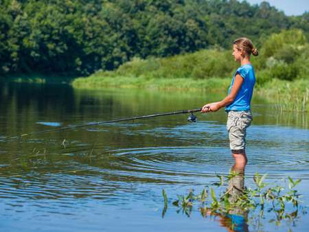41379480 - fishing girl